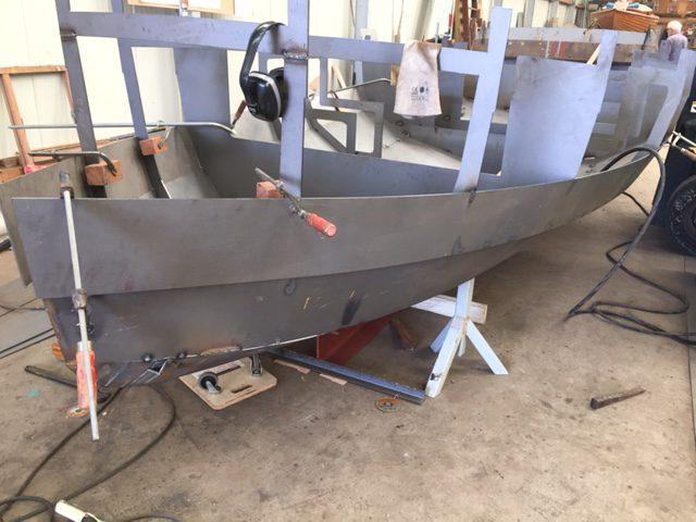 Sloep650 in aanbouw bij P van Klink